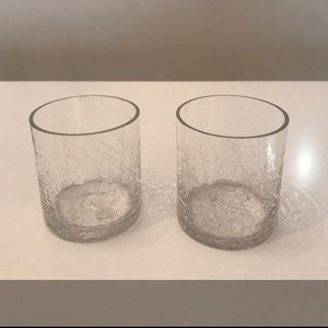 Pair of PartyLite Glass Candle Votives
